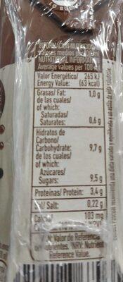 Batido de chocolate - Informations nutritionnelles - es