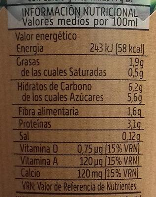 Vivesoy go cappuccino - Informations nutritionnelles - es
