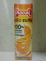 """Zumo de naranja exprimida sin pulpa """"Pascual Sólo Zumo"""" - Product - es"""