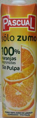 "Zumo de naranja exprimida sin pulpa ""Pascual Sólo Zumo"" - Produit"