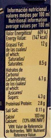 Nata líquida ligera para cocinar uht m.g. - Informations nutritionnelles - es