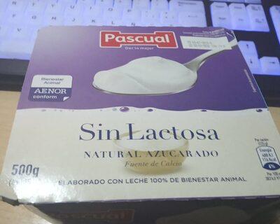 Yogurt natural azucarado sin lactosa - Produit - es