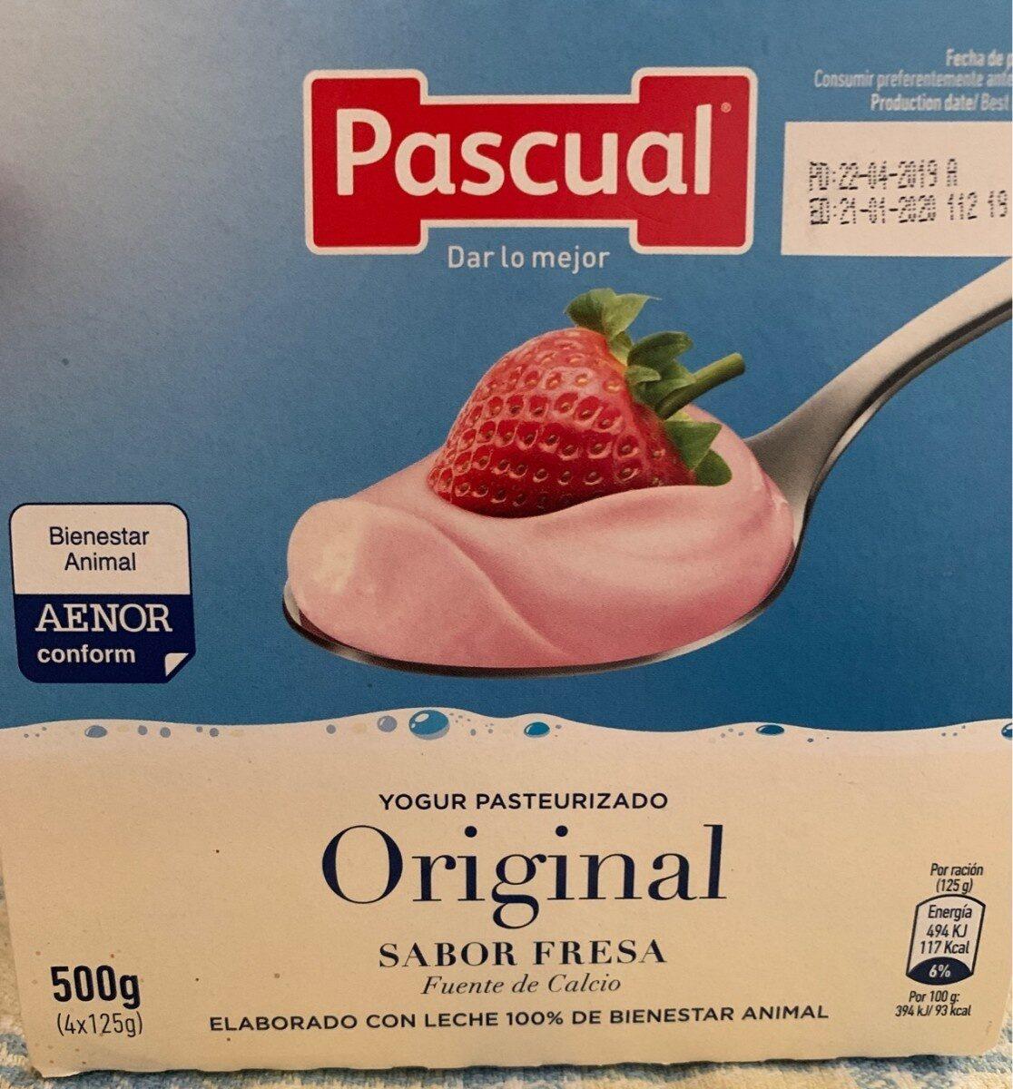 Yogur pasteurizado sabor fresa - Produit - es