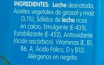 Leche Flora Entera Brick - Ingrédients - es