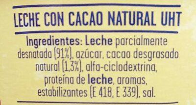 ColaCao Shake - Ingredientes - es