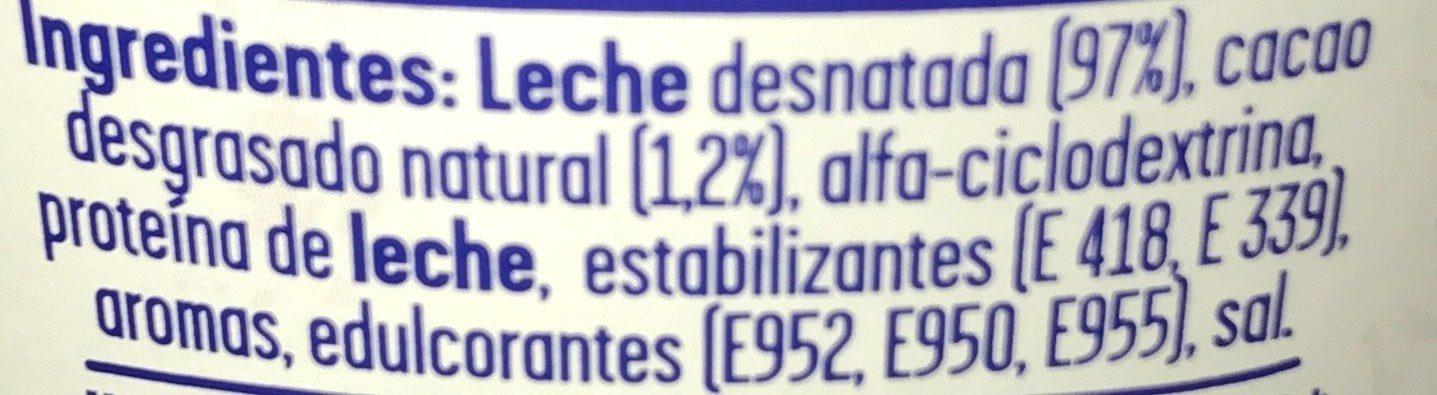 ColaCao Shake 0% azúcares - Ingrédients - fr