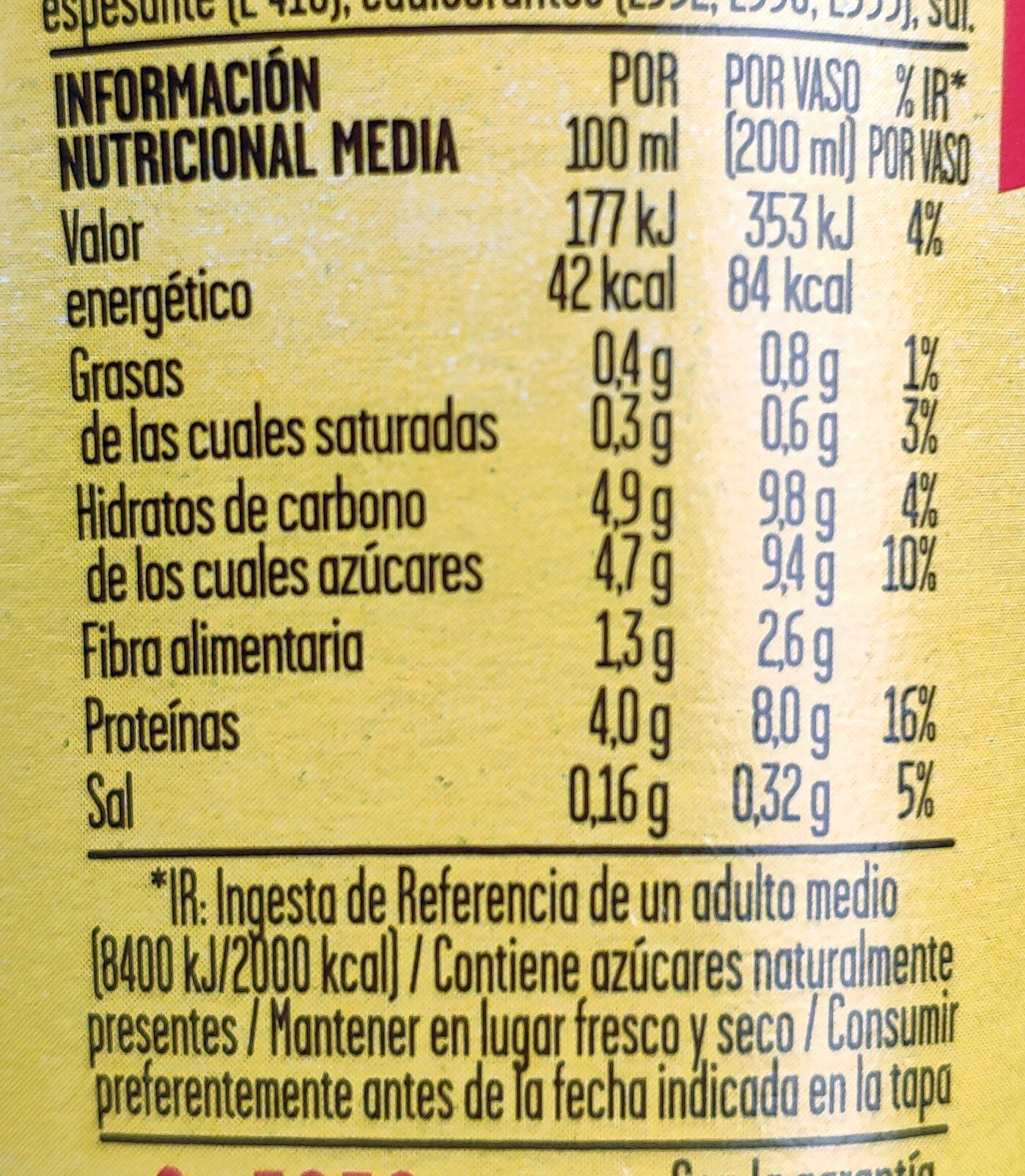 ColaCao Shake 0% azúcares - Informations nutritionnelles - es