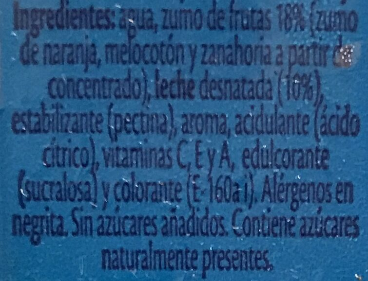 Bi Frutas mediterraneo - Ingredientes - es