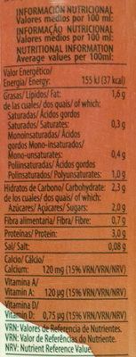 Bebida de soja sabor avellanas - Nutrition facts