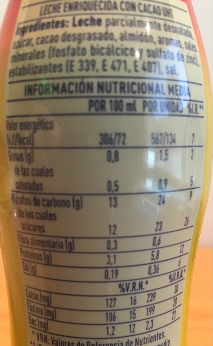 Cola Cao Energy - Informations nutritionnelles - fr