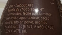 Okey Choco Ride - Ingredientes
