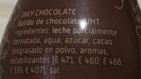 Choco ride - Ingredientes - es