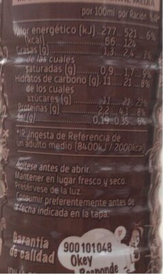 Choco ride - Información nutricional - es