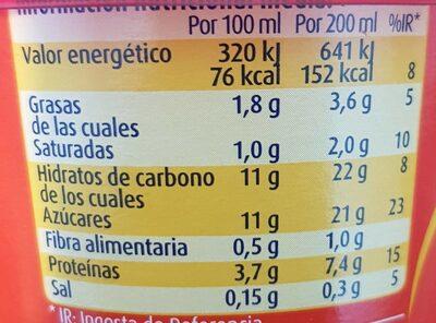 Nocilla batido de chocolate - Informations nutritionnelles - fr