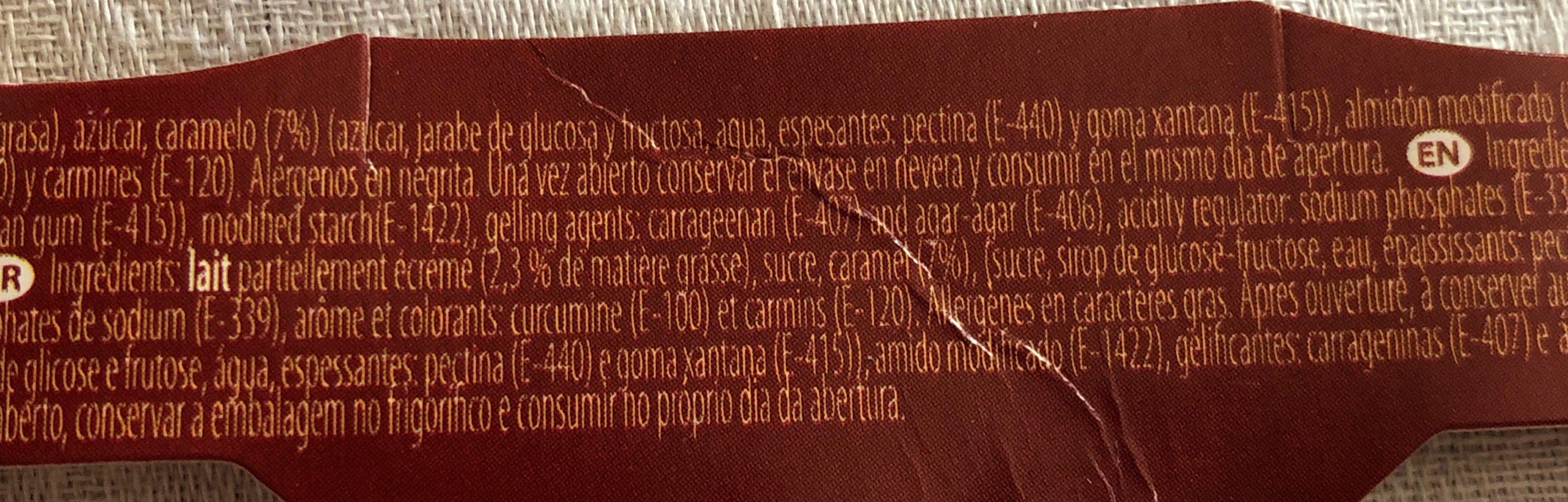 Flan creme caramel - Ingrédients - fr