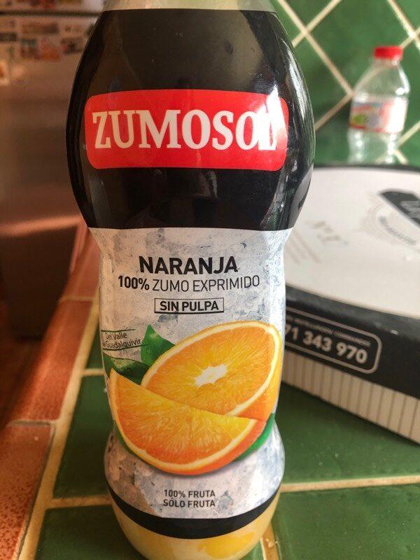 Zumo Refrigerado De Naranja Sin Pulpa Zumosol - Producto - es