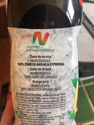 Zumo Refrigerado De Naranja Sin Pulpa Zumosol - Ingredientes - es