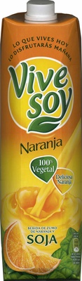"Bebida de zumo y soja ""ViveSoy"" Naranja - Product"