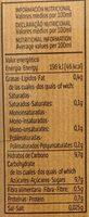 Bebida De Zumo De Naranja Y Soja Con Azúcar De Caña Y Vitamina C - Informació nutricional - es