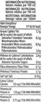 Bebida de soja Natural - Información nutricional