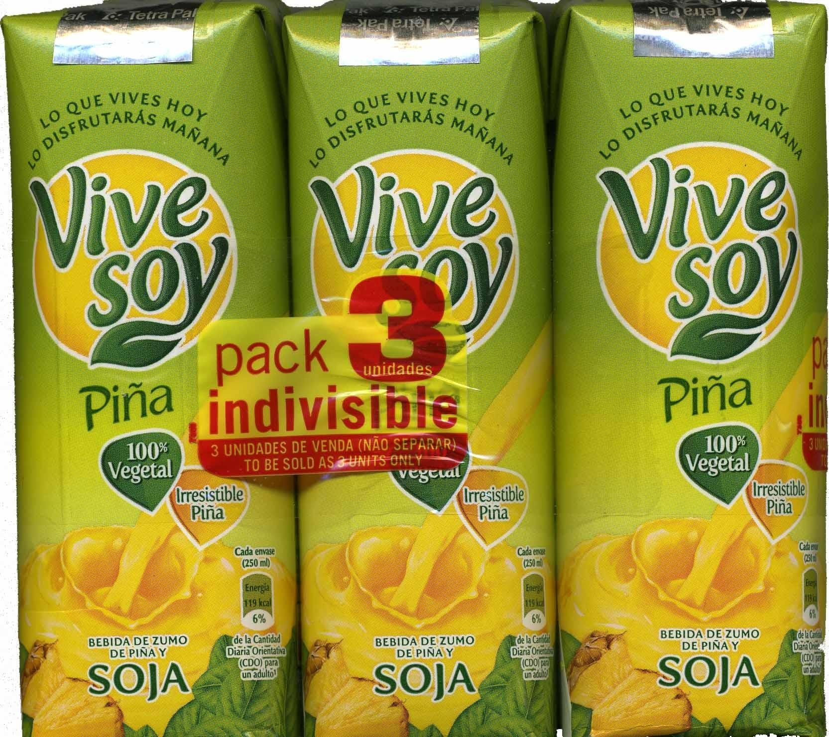 Bebida de zumo de piña & soja - Producte - es