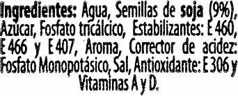 Bebida de soja ligera - Ingredients - es