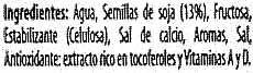 """Bebida de soja """"ViveSoy"""" Natural. Pack de 3 - Ingredients - es"""