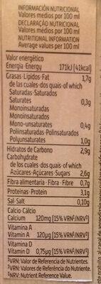 Bebida de Soja Sabor Intenso - Información nutricional