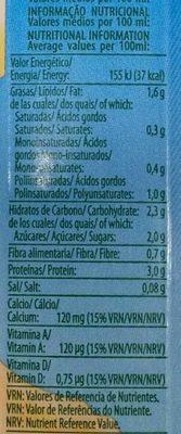 Bebida de soja sabor vainilla alto contenido - Información nutricional - es
