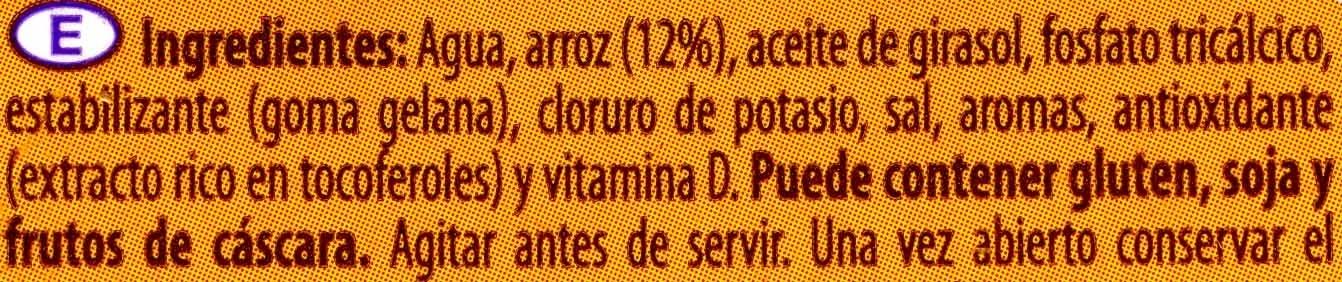 Bebida de arroz - Ingredientes