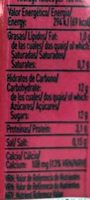 Batido sabor fresa 93% leche - Informations nutritionnelles - es