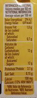 Batido sabor Vainilla - Información nutricional