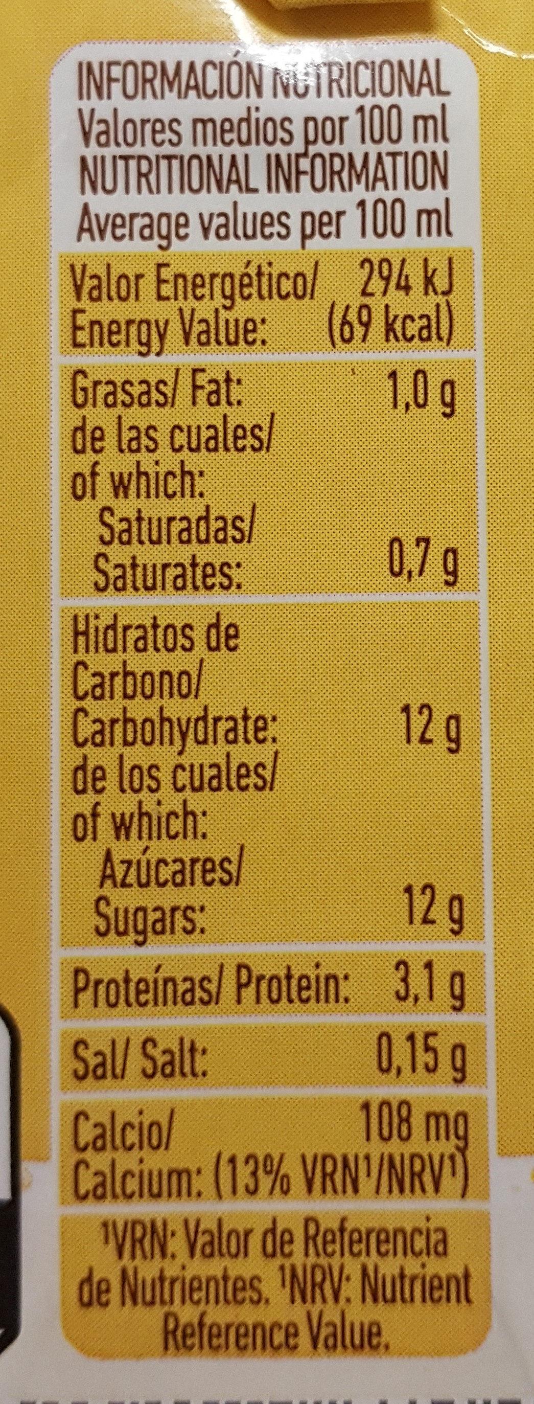 Batido sabor vainilla - Información nutricional - es