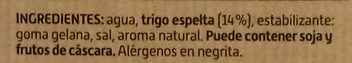 Bebida de Espelta - Ingredientes - es