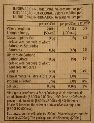 Bebida de Espelta - Información nutricional - es