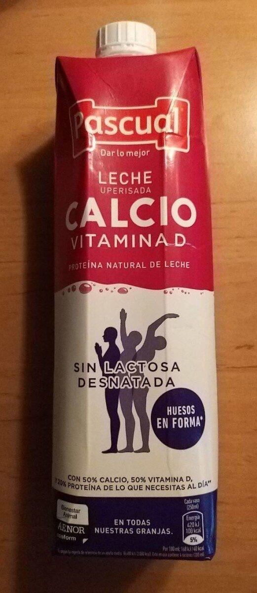 Lactosa sin con leche calcio