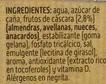 Bebida de Frutos Secos - Ingrediënten