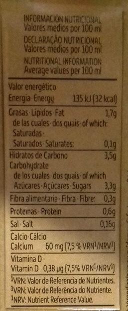Bebida de Frutos Secos - Voedingswaarden