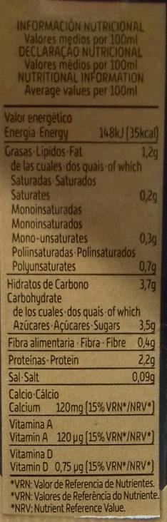 Bebida de Soja con Té Negro - Información nutricional