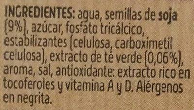Bebida de Soja con Té Verde - Ingredientes