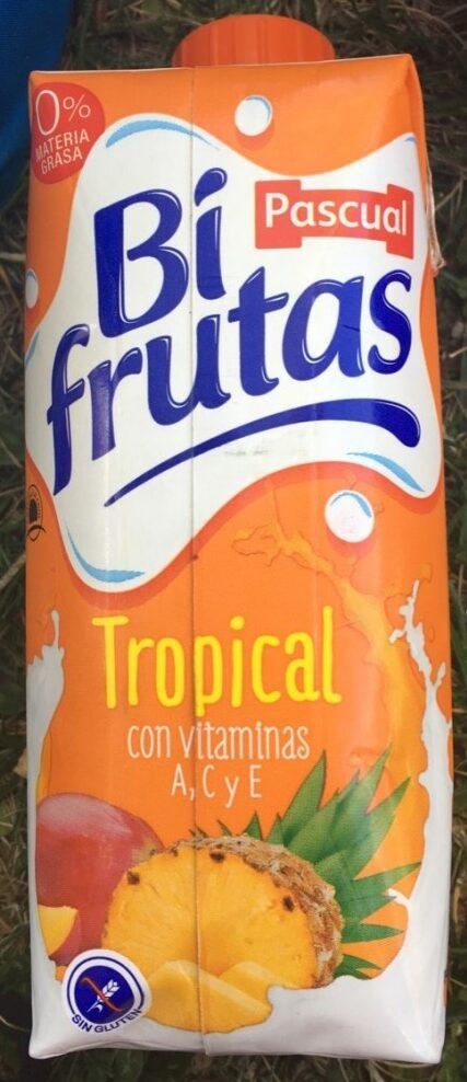 Tropical zumo de fruta con leche y vitaminas sin gluten briks - Producte