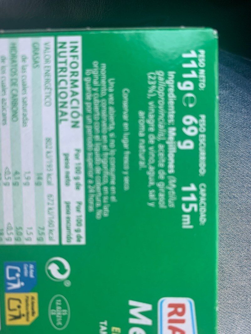 Rianxeira MUSCL.14-18 - Ingredients - es