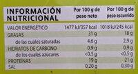 Thon blanc à l'huile d'olive - Informations nutritionnelles - fr