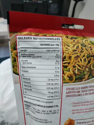 Crispy Oignons Original - Informations nutritionnelles - fr