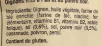 Crispy Oignons Ail et Poivre - Ingrédients