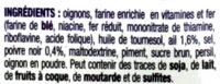 Crispy Oignons Ail et Poivre - Ingrédients - fr