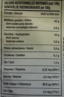 Crispy Oignons Ail et Poivre - Informations nutritionnelles