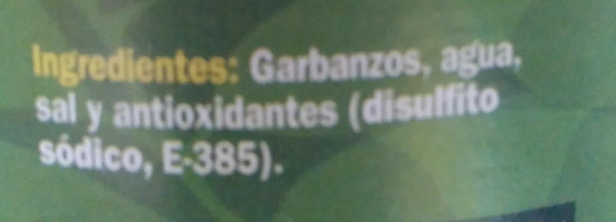 Garbanzos cocidos al natural - Inhaltsstoffe - es
