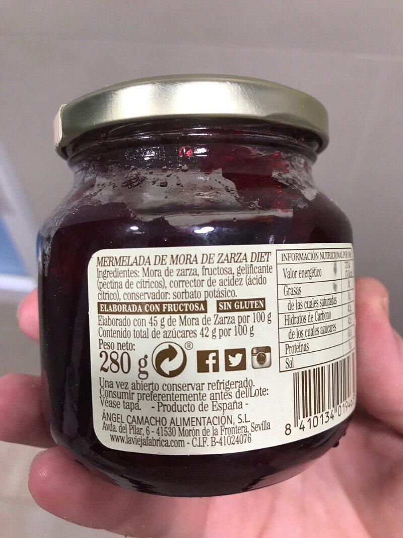 Mermelada mora de zarza - Ingredients - es