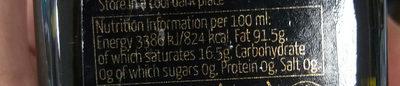 extra virgin olive oil - Giá trị dinh dưỡng - en